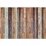 Vliesové fototapety vintage dřevěná stěna rozměr 368 cm x 254 cm - POSLEDNÍ KUSY