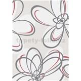 Vliesové tapety na zeď WohnSinn květy šedo-červené