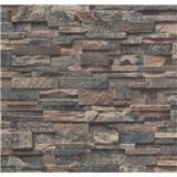 Papírové tapety na zeď Sweet & Cool kameny černo-hnědé