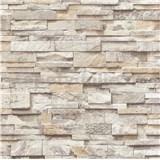 Papírové tapety na zeď Sweet & Cool kameny světle hnědé