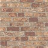 Vliesové tapety na zeď Brique 3D cihly červeno-hnědé s výraznou plastickou strukturou