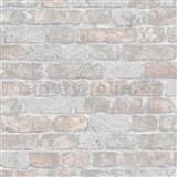 Vliesové tapety na zeď Brique 3D cihly šedo-hnědé s výraznou plastickou strukturou