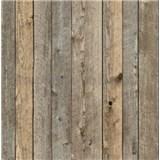 Vliesové tapety na zeď dřevěné obložení tmavě hnědé