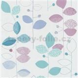 Papírové tapety na zeď X-treme Colors - listy modro-fialové