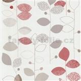 Papírové tapety na zeď X-treme Colors - listy červeno-hnědé