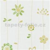 Papírové tapety na zeď X-treme Colors - kytičky zeleno-hnědé