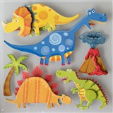 3D samolepky na zeď dětské dinosauři