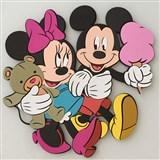 3D Pěnová dekorace na zeď Miki a Minnie na zmrzlině