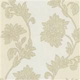 Tapety na zeď Baroque - květy se strukturou textilu béžovo-hnědé