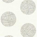 Vliesové tapety Belcanto - kruhy světle hnědé