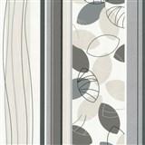 Vliesové tapety Belcanto - listí šedo-hnědé - SLEVA