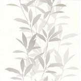 Tapety na zeď Dieter Bohlen - listí šedé