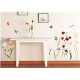 Samolepky na stěnu luční květy