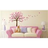 Samolepky na stěnu strom růžový