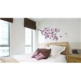 Samolepky na stěnu strom s květy růži