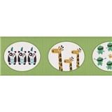 Bordury papírové zelené se zvířátky - 17,5 cm x 5 m