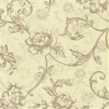 Vliesové tapety na zeď Como květy růže hnědé se zlatými třpytkami