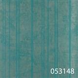Tapety na zeď La Veneziana - stříbrné proužky s metalickým efektem na tyrkysovém podkladu