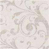 Tapety na zeď La Veneziana - barokní vzor bílo-béžový