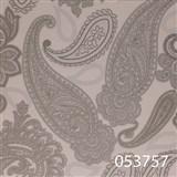 Tapety na zeď Astoria - kašmírový vzor stříbrný s metalickým leskem