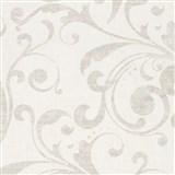 Tapety na zeď La Veneziana - barokní vzor krémovo-bílý