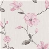 Tapety na stěnu Fiori Grandi - květy magnólie - růžové