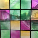 Statická fólie transparentní čtverce 67,5 cm x 15 m