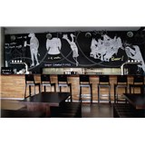 Samolepící tabulová fólie černá - šířka 1,23 m