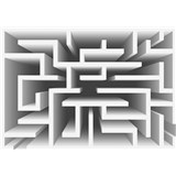 Vliesové fototapety 3D labyrint bílý rozměr 416 cm x 254 cm