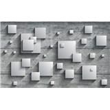 Vliesové fototapety 3D čtverce rozměr 312 cm x 219 cm