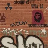 Dětské tapety Graffiti - Ltd. Collection - Street Wall - cihlově oranžová MEGA SLEVA