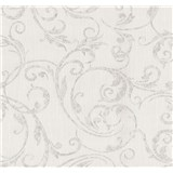 Tapety na zeď Graziosa ornament hnědý na krémovém podkladu