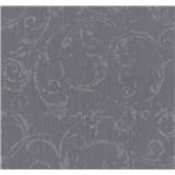 Tapety na zeď Graziosa ornament fialovo-hnědá
