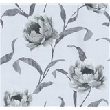 Tapety na zeď Graziosa květy šedé