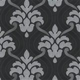 Vliesové tapety na zeď Memphis ornament šedo-stříbrný