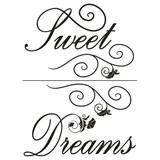 Samolepky na zeď - Sweet Dreams 45 x 65 cm