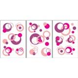 Samolepky na zeď - bubliny růžové