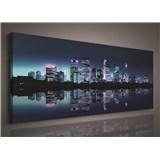 Obraz na plátně noční velkoměsto 145 x 45 cm