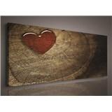 Obraz na plátně srdce 145 x 45 cm