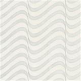 Vliesové tapety na zeď Opulence moderní vlnovky bílo-šedé