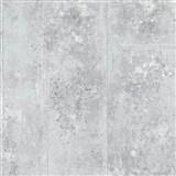 Tapety Origin - beton kovový vzhled bílo-stříbrný