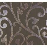 Vliesové tapety na zeď Ornamental Home - ornament fialovo-hnědý