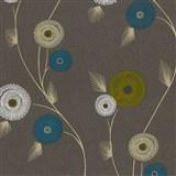 Vliesové tapety na zeď Patchwork - květy tyrkysovo-bílé - SLEVA
