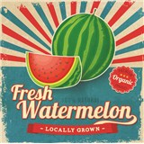 Retro cedule Fresh Watermelon 30 x 30 cm