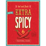 Retro cedule Extra Spicy Hot and Fresh 40 x 30 cm