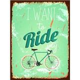 Retro cedule Ride My Bicycle 40 x 30 cm