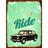 Retro cedule Ride My Car 40 x 30 cm