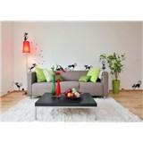 Samolepky na stěnu černé kočky