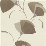 Vliesové tapety na zeď Spotlight - listy světle hnědé