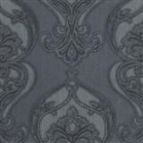 Vliesové tapety na zeď Studio Line - Graceful zámecký vzor šedý se třpytem